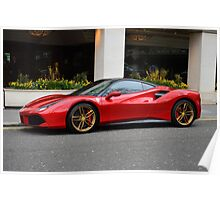 Ferrari 488 GTB Poster