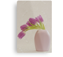 Tulips And Lace Metal Print