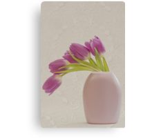 Tulips And Lace Canvas Print