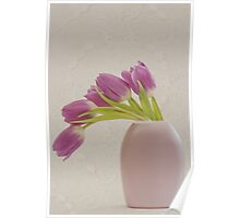 Tulips And Lace Poster