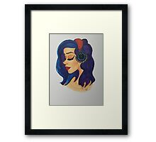 Girl Listening to Music  Framed Print