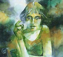 La ragazza che fumava gauloises by Alessandro Andreuccetti