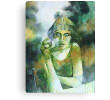 La ragazza che fumava gauloises Canvas Print