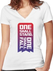 One shall stand, one shall fall Women's Fitted V-Neck T-Shirt