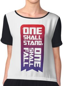One shall stand, one shall fall Chiffon Top