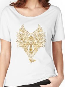 Wolf Line Art Women's Relaxed Fit T-Shirt