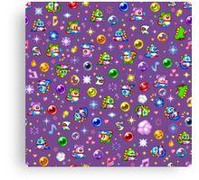 Bubble Bobble - Purple Canvas Print