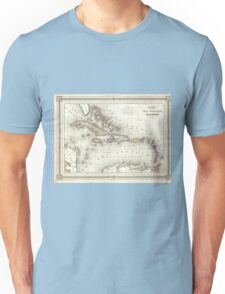 Vintage Map of The Caribbean (1852) Unisex T-Shirt