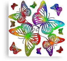 I got the butterflies Canvas Print