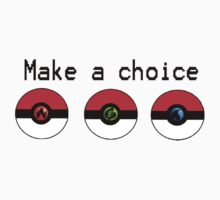 Make a Choice Pokemon Starters by KLC555