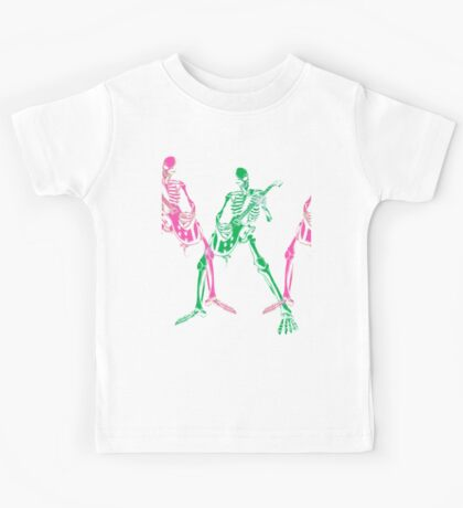 Skeleton Guitar Player 3 Kids Tee