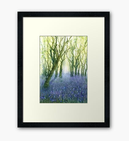Bluebell Woods (Original painting sold) Framed Print