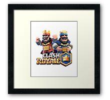 The King Clash royale Framed Print