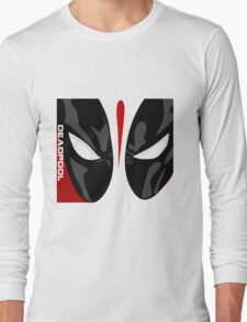 DeadPool Face Long Sleeve T-Shirt