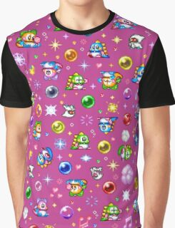 Bubble Bobble - Pink Graphic T-Shirt