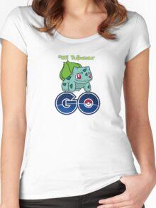 #001 Bulbasaur GO! Women's Fitted Scoop T-Shirt