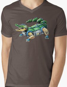 Chomp The Robo-Gator Mens V-Neck T-Shirt