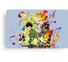 Gon and Killua  Canvas Print