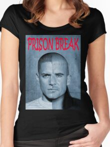 PRISON BREAK Women's Fitted Scoop T-Shirt