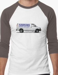 HAWKINS POWER AND LIGHT VAN - stranger things Men's Baseball ¾ T-Shirt
