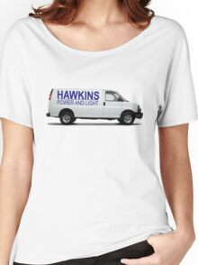 HAWKINS POWER AND LIGHT VAN - stranger things Women's Relaxed Fit T-Shirt