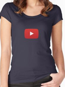 Youtube All Women's Fitted Scoop T-Shirt