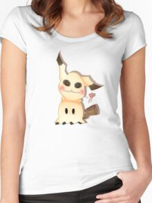 Mimikkyu Women's Fitted Scoop T-Shirt