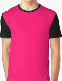 Hot Pink Color  Graphic T-Shirt