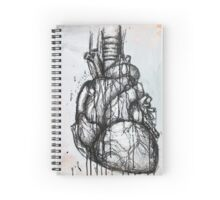 Heart Ink Painting Spiral Notebook