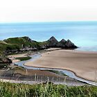 Three Cliffs Bay by missmoneypenny