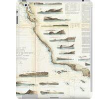Vintage Map of The U.S. West Coast (1853) iPad Case/Skin