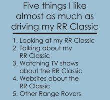 5 Things I Like - Range Rover Classic Baby Tee