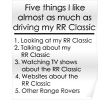 5 Things I Like - Range Rover Classic Poster