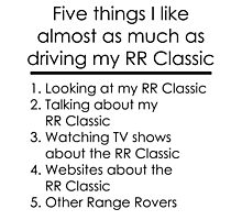 5 Things I Like - Range Rover Classic Photographic Print