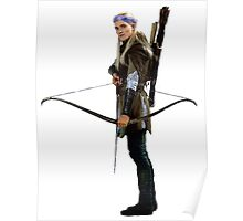 legolas with flower crown Poster