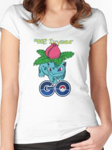 #002 Ivysaur GO! Women's Fitted Scoop T-Shirt
