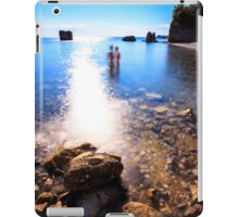 summer day at the beach in the gulf of Trieste iPad Case/Skin
