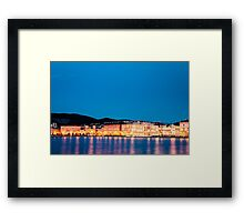 the lights of the city of Trieste Framed Print