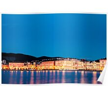 the lights of the city of Trieste Poster