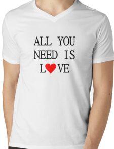 All You Need Is Love The Beatles Song Lyrics John Lennon 60s Rock Music Mens V-Neck T-Shirt