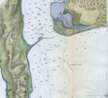Vintage Map of San Diego & Coronado (1853) Sticker