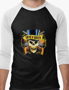 Gun And Roses Men's Baseball ¾ T-Shirt