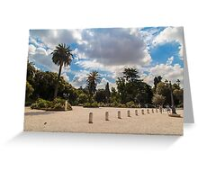 palms in the Pincio Garden in Rome Greeting Card