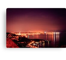 evening in the gulf of Trieste Canvas Print