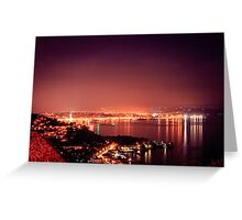 evening in the gulf of Trieste Greeting Card