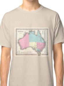 Vintage Map of Australia (1855) Classic T-Shirt
