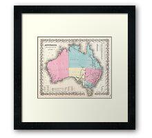 Vintage Map of Australia (1855) Framed Print