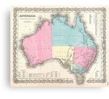 Vintage Map of Australia (1855) Canvas Print
