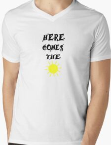 Here Comes The Sun Beatles Song Lyrics 60s Rock Music Mens V-Neck T-Shirt