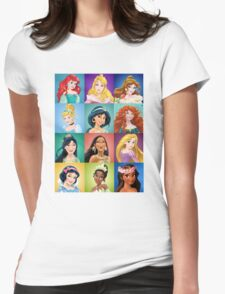 Funny Cute Princess Womens Fitted T-Shirt